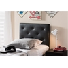 Baltimore Modern and Contemporary Black Faux Leather Upholstered Twin Size Headboard
