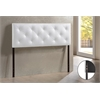 Baltimore Modern and Contemporary Queen White Faux Leather Upholstered Headboard