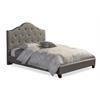 Anica Scalloped Grey Fabric Modern Full Size Platform Bed