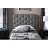Viviana Modern and Contemporary Grey Fabric Upholstered Button-Tufted Twin Size Headboard