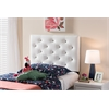 Viviana Modern and Contemporary White Faux Leather Upholstered Button-Tufted Twin Size Headboard