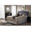 Aubrey Modern and Contemporary Dark Grey Fabric Upholstered Queen Size Headboard