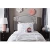 Aubrey Modern and Contemporary Grayish Beige Fabric Upholstered Twin Size Headboard Greyish Beige