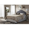 Cora Modern and Contemporary Dark Grey Fabric Upholstered Full Size Headboard