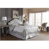 Cora Modern and Contemporary Grayish Beige Fabric Upholstered Full Size Headboard Greyish Beige