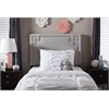 Geneva Modern and Contemporary Grayish Beige Fabric Upholstered Twin Size Headboard Greyish Beige
