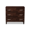 Maison Modern and Contemporary Oak Brown Finish Wood 3-Drawer Storage Chest