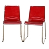 Lino Transparent Red Acrylic Accent Chair Dining Chair