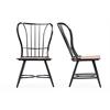 """Longford """"Dark-Walnut"""" Wood and Black Metal Vintage Industrial Dining Chair """"Walnut"""" Brown/Black"""