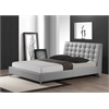 Zeller Gray Modern Bed with Upholstered Headboard - Queen Size Grey