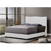Duncombe White Modern Bed with Upholstered Headboard - Queen Size