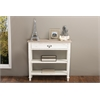 Dauphine Traditional French Accent Console Table—1 Drawer White/Light Brown