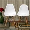 Azzo White Plastic Mid-Century Modern Shell Chair