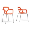 Miami Orange Plastic Modern Dining Chair