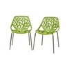 Birch Sapling Green Plastic Modern Dining Chair