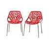 Birch Sapling Red Plastic Modern Dining Chair