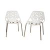 Birch Sapling White Plastic Accent / Dining Chair