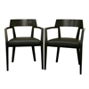 Laine Wenge Wood and Faux Leather Modern Dining Chair Dark Brown
