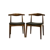 Sonore Solid Wood Mid-Century Style Accent Chair Dining Chair Walnut