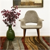 Forza Brown Mid-Century Style Accent Chair Tan/Beige