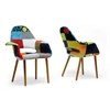 Forza Patchwork Mid-Century Style Accent Chair Multi