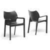 Limerick Black Plastic Stackable Modern Dining Chair