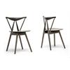Mercer Brown Wood Modern Dining Chair Dark Brown