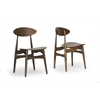 Ophion Brown Wood Modern Dining Chair