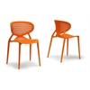 Neo Orange Plastic Modern Dining Chair
