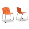 Ximena Orange Plastic Modern Dining Chair