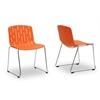 Ximena Orange Plastic Modern Dining Chair