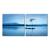 Cerulean Stillness Mounted Photography Print Diptych Multi