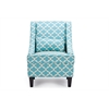 Lotus Contemporary Fabric Armchair - Blue Patterned Fabric