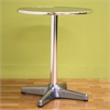 "Eustace Round Bar Table ""Silver"" Grey"