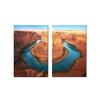 Wraparound Waterway #1 Mounted Photography Print Diptych Multi