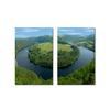 Wraparound Waterway #2 Mounted Photography Print Diptych Multi