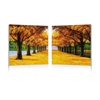 Autumnal Boulevard Mounted Print Diptych Multi