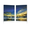 Sunset Sails Mounted Photography Print Diptych Multi
