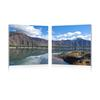 Causeway through the Mountains Mounted Photography Print Diptych Multi