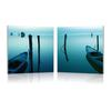 Idle Shore Mounted Photography Print Diptych Multi