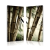 Bamboo Stalks Mounted Photography Print Diptych Multi