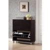 Simms Dark Brown Modern Shoe Cabinet