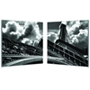 Touch the Clouds Mounted Photography Print Diptych Black/White