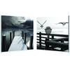 Lake Lookout Mounted Photography Print Diptych Black/White