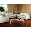Whitney Ivory Leather Modern Sofa Set