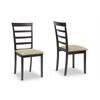 Jet Sun Dark Brown/Beige Dining Chair