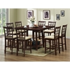 Katelyn Modern Pub Table Set - 7 Piece Modern Dining Set Cappuccino Finish/Brown