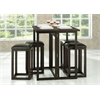 Leeds Brown Wood Collapsible Pub Table Set Dark Brown