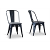 French Industrial Bistro Chair in Antique Black