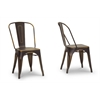 French Industrial Bistro Chair in Antiqued Copper Antique Copper